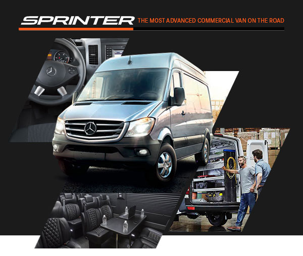 Sprinter. The most advanced commercial van on the road.