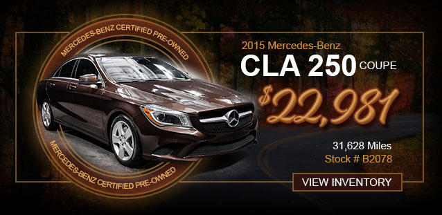 2018 CLA 250 Coupe for $31,991