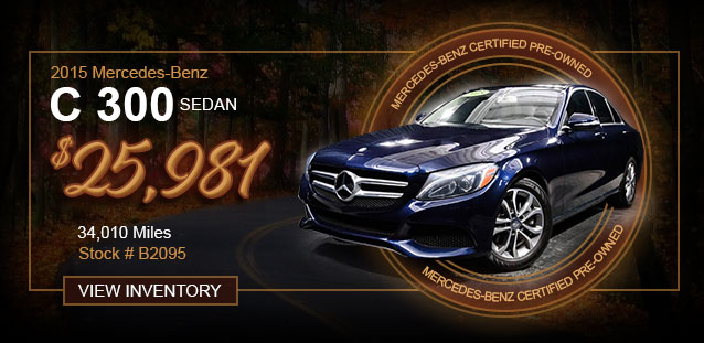 2015 Mercedes-Benz C 300 Sedan for $23,994