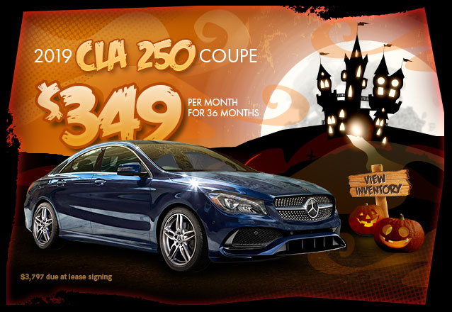 2019 CLA 250 for $349per month for 36 months with $3,797 due at lease signing.