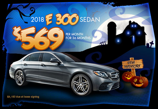 2018 E 300 for $569 per month for 36 months with $5,183 due at lease signing.