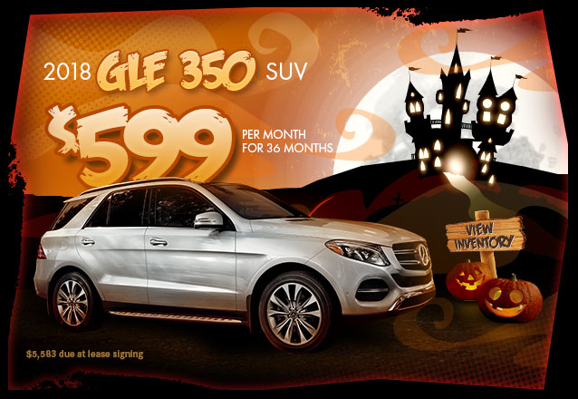2018 GLE 350 SUV for $599 per month for 36 months with $5,583 due at lease signing